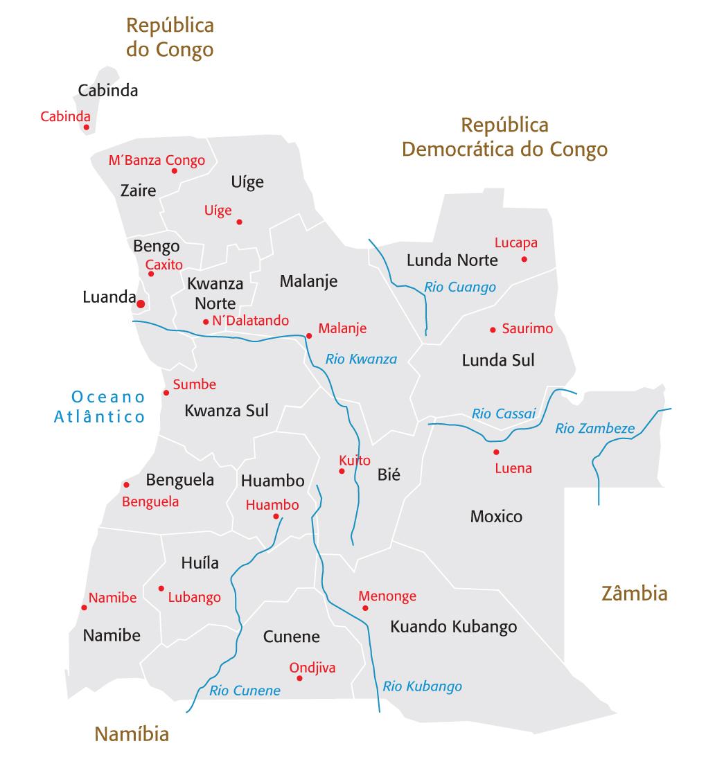 mapa dos rios de angola Dados   CCIPA mapa dos rios de angola
